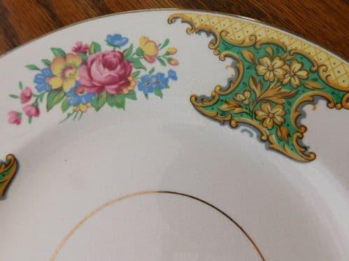 Side plates Washington Pottery Hanley Flower Rose Vintage 1950s china tea salad